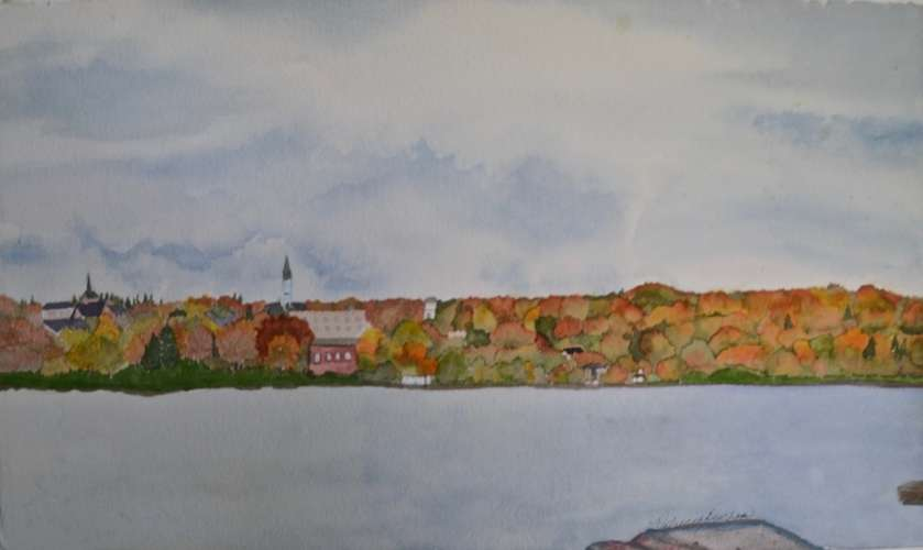 "The Sunshine City!!, w/c, 22""x13"" (framed: 30""x20""), $$595.0000"